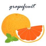 Вкусное свежего органического грейпфрута сладостное и кислое Стоковые Изображения