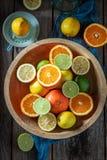 Вкусное смешивание цитрусовых фруктов стоковое изображение rf