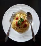 вкусное спагетти стоковая фотография