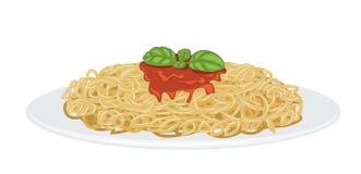 вкусное спагетти Стоковое Изображение