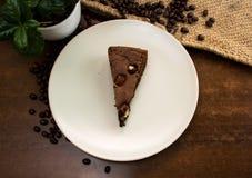 Вкусное browny на таблице Стоковая Фотография RF