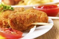 Вкусное kebob жареной курицы Стоковая Фотография