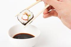 вкусное makizushi положенное к Стоковые Изображения