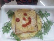 Вкусное omleat хлеба стоковое изображение