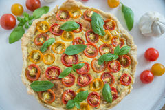 Вкусно простой пирог томата Стоковые Изображения
