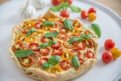 Вкусно простой пирог томата Стоковое Изображение RF