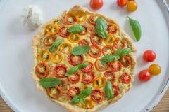 Вкусно простой пирог томата Стоковое Изображение