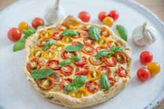 Вкусно простой пирог томата Стоковые Фото