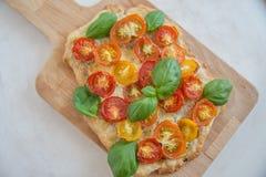 Вкусно простой пирог томата Стоковое Фото