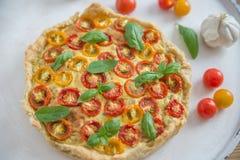 Вкусно простой пирог томата Стоковая Фотография RF
