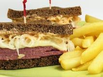 вкусно reuben сандвич Стоковое Изображение