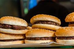 Вкусные бургеры говядины Стоковая Фотография