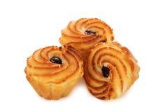 Вкусные булочки при варенье изолированное на белизне Стоковое фото RF