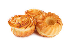 Вкусные булочки сыра изолированные на белизне Стоковые Изображения RF