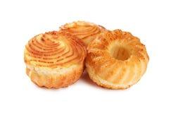 Вкусные булочки сыра изолированные на белизне Стоковое Фото