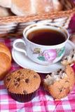 Вкусные булочки для чая Стоковое Изображение