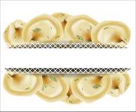 вкусные вареники Русские вареники итальянский ravioli Стоковая Фотография RF