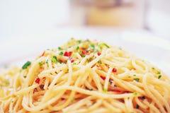 Вкусные вегетарианские макаронные изделия Стоковые Изображения RF