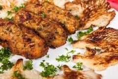 Вкусные вегетарианские croquettes еды гриба orellana Стоковая Фотография
