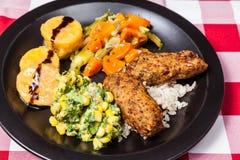 Вкусные вегетарианские croquettes еды гриба orellana Стоковые Фото