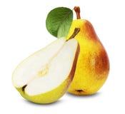 Вкусные груши на белой предпосылке Стоковое Изображение