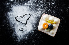 Вкусные десерты влюбленности Стоковые Изображения RF