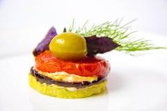 вкусные зажаренные в духовке овощи Стоковые Изображения
