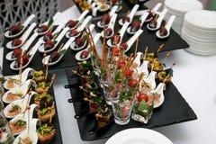 Вкусные закуски в стекле Стоковое фото RF