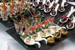 Вкусные закуски в стекле Стоковое Изображение RF