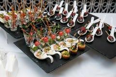 Вкусные закуски в стекле Стоковая Фотография RF
