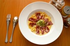 вкусные итальянские макаронные изделия Стоковое Изображение RF