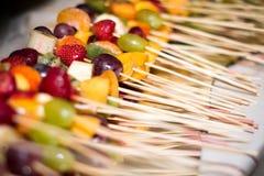 Вкусные канапе плодоовощ Стоковое Изображение