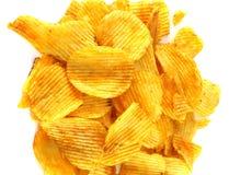 Вкусные картофельные стружки Стоковое Фото