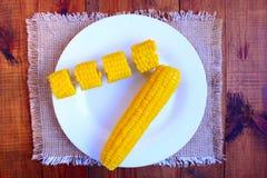 Вкусные кипеть corns Стоковые Фотографии RF