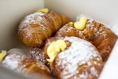 Вкусные круассаны для очень вкусного завтрака Стоковая Фотография