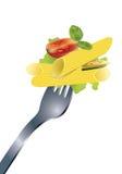 вкусные макаронные изделия Стоковое Фото