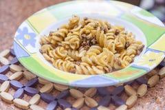 Вкусные макаронные изделия Стоковое Изображение