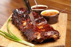 Вкусные нервюры BBQ Стоковое Фото