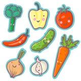вкусные овощи иллюстрация вектора