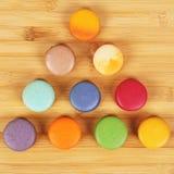Вкусные очень вкусные печенья macaroons Стоковые Изображения