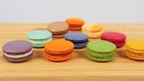 Вкусные очень вкусные печенья macaroons Стоковое фото RF