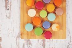 Вкусные очень вкусные печенья macaroons Стоковые Фотографии RF