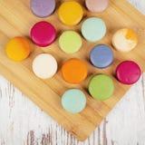 Вкусные очень вкусные печенья macaroons Стоковое Изображение