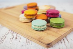 Вкусные очень вкусные печенья macaroons Стоковая Фотография