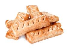Вкусные печенья на белой предпосылке Стоковые Фото