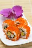 вкусные подготовленные принятые суши студии стоковая фотография
