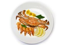Вкусные продукты моря иллюстрация штока