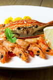 Вкусные продукты моря Стоковое Изображение