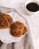 Вкусные плюшки стоковая фотография rf