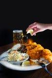 вкусные рыбы тарелки Стоковое Фото